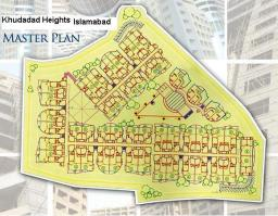 Master Plan Khudadad Heights Apartments Islamabad