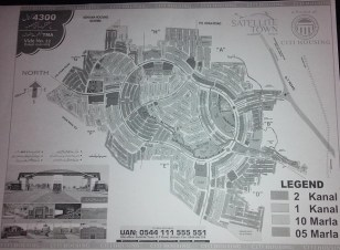 Satellite Town Jhelum Master Plan (Project of Citi Housing)