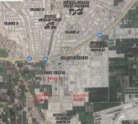 Icon Villas Multan - Satellite Map all Phases