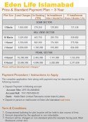 Eden Life Islamabad Payment Plan