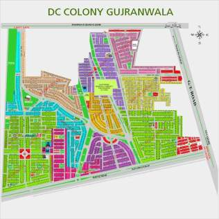 DC Colony Detail Map Gujranwala