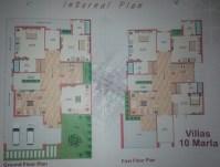 Liberty Homes Multan - 10 Marla Villa Layout Plan Drawing