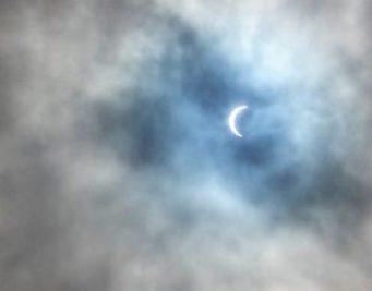 The moon eats the sun