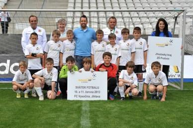 2013 - přípravka FK Protivín, opět v dresu základní školy na finále McDonalds cupu v Jihlavě