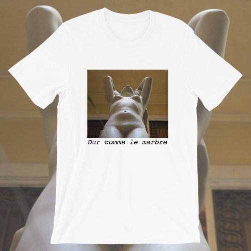 t-shirt dur comme le marbre
