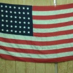 48 star wool american flag