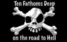 Ten fathoms deep pirate flag 5x3ft