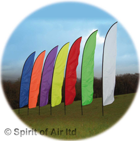 Feather swooper banner Neon orange 5m