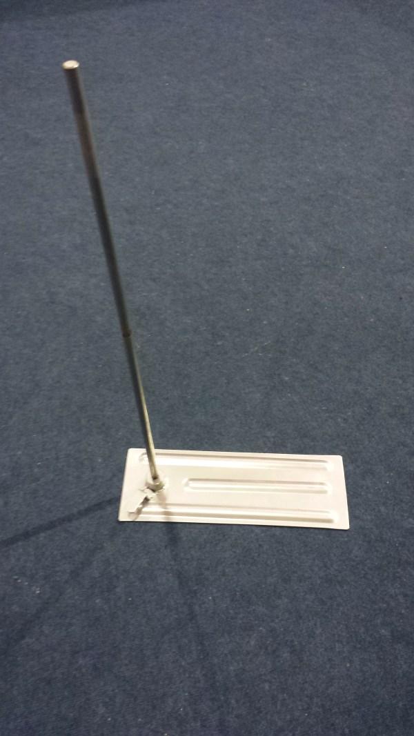 Telescopic flag pole wheel mount