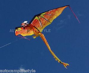 Fire dragon kite orange with 195cm wingspan