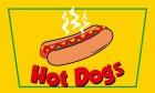 Hot Dogs flag 5ft x 3ft