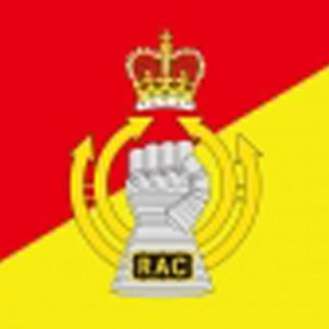 Royal Armoured Corps military flag 5ft x 3ft