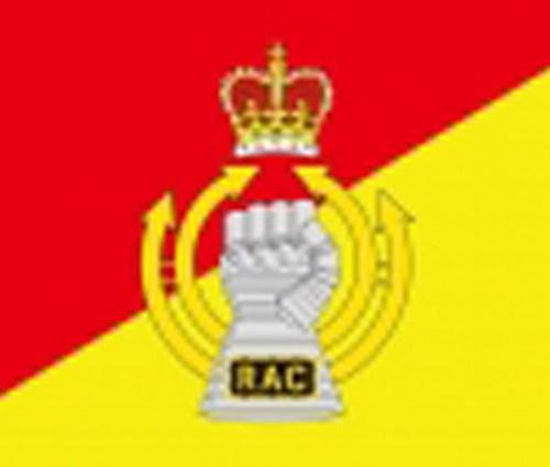 Royal Armoured Corps military flag 5ft x 3ft