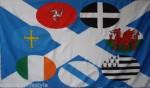 Celtic Nations Flag 5x3ft (circles)