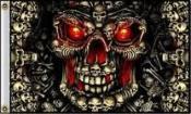 Skull style Deadly skulls flag 5ft x 3ft