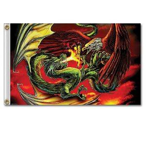 Dragon v Eagle flag 5ft x 3ft