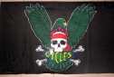 Eagle and skull motorcycle flag 5ft x 3ft