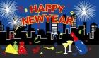 Happy new year celebration christmas flag 5x3ft