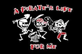 Pirates life for me flag 5ft x3ft