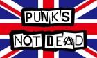 Punks not dead flag 5ft x 3ft