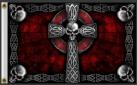 Skull cross gothic goth pirate flag 5x3ft