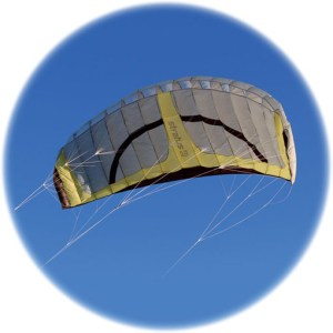 Stratus 6m sq quad line Power kite by Spirit of Air
