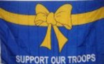 Support our troops flag blue 5ft x 3ft