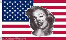 USA Marilyn Monroe american flag 5ft x3ft