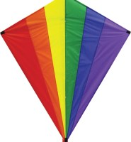 Giant Diamond rainbow traditional single line kite
