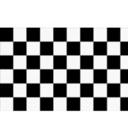 Chequered check flag black/white 5ft x 3ft