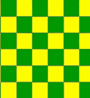 Chequered check flag green yellow 5ft x 3ft