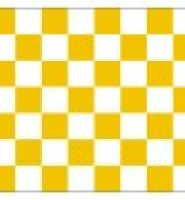 Chequered check flag orange white 5ft x 3ft