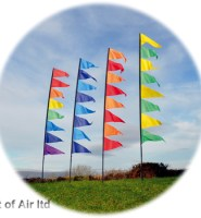 Pendant Banner flag kit for festivals camping garden motorhome or caravan in YELLOW GREEN