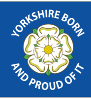 Yorkshire born and proud flag 5ft x 3ft