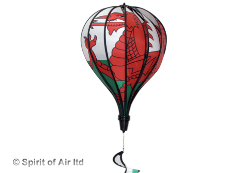 Wales welsh flag hot air balloon windsock