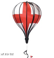 St George England flag hot air balloon windsock