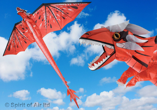 Fire dragon kite RED with 195cm wingspan