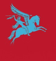 Pegasus airborne flag 5ft x 3ft ( no text ) with eyelets high quality