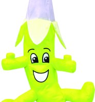Banana wacky character windsock for telescopic flag poles or garden ornaments and camping festivals
