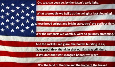 The Star-Spangled Banner National Anthem