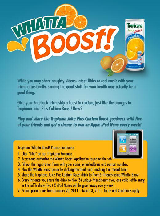 Tropicana Juice Plus Whatta Boost Game - Play now!