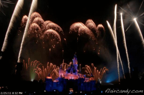 Hong Kong Disneyland Disney in the Stars Fireworks display photos