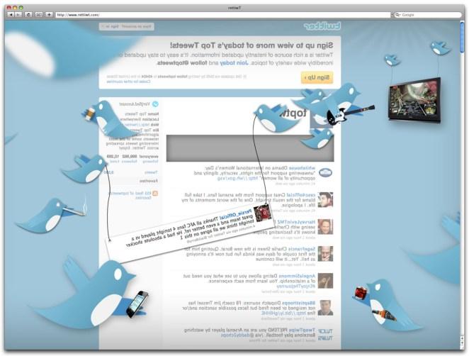 L'envers du décors - Twitter