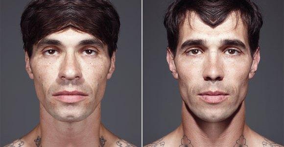 Symétrie des visages par Julian Wolkenstein