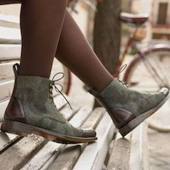 cuptoe lace up boot woman