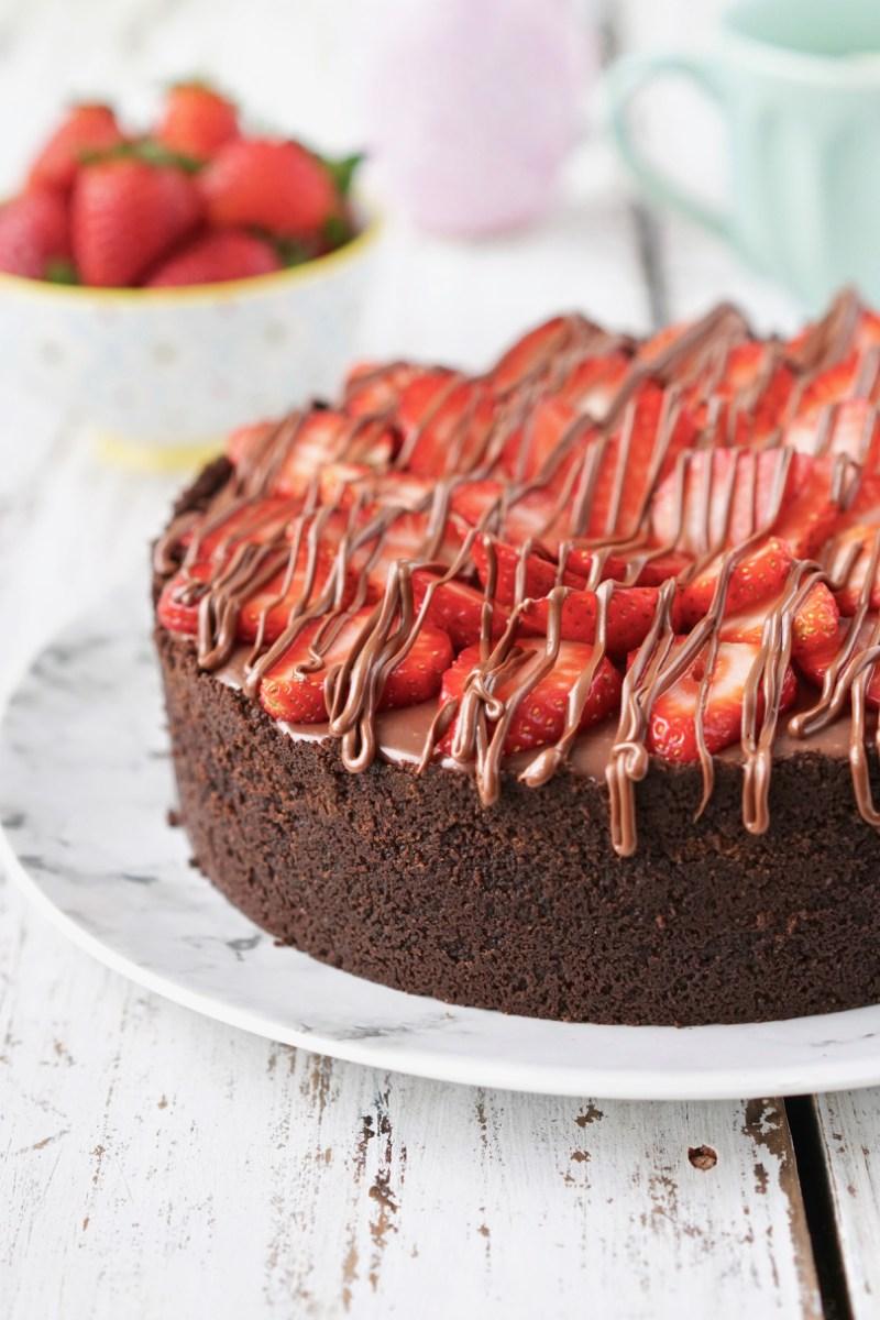 Torta de morango e chocolate