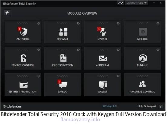 Bitdefender Total Security 2016 Crack with Keygen Full Version Download