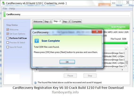 CardRecovery Registration Key V6 10 Crack Build 1210 Full free Download