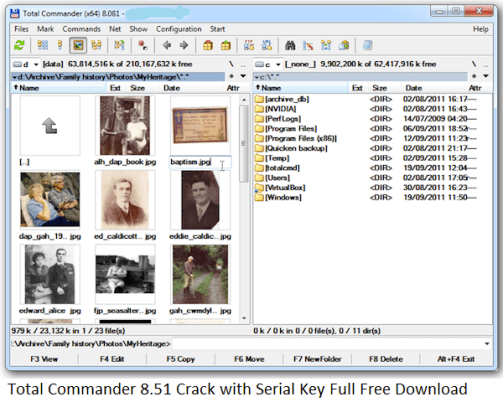 Total Commander 8.51 Crack with Serial Key Full Free Download