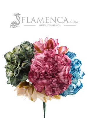 Ramillete de flamenca multicolor